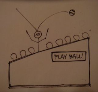 Foul-baseball